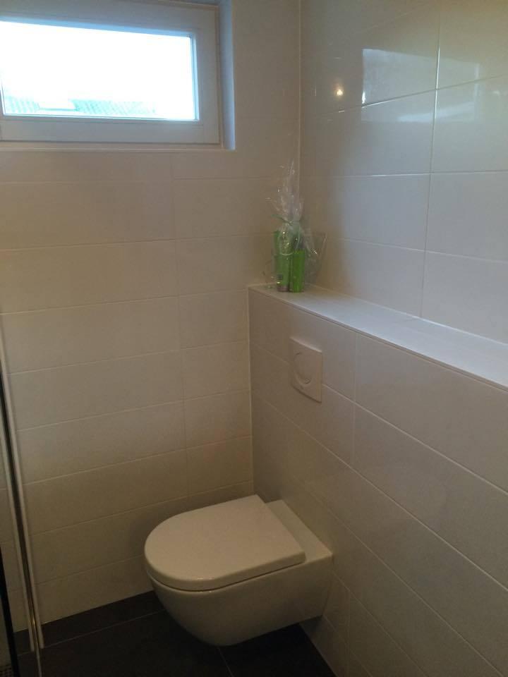 Toilet - Badkamer Hilversum met nis in muur - Timmer- en ...