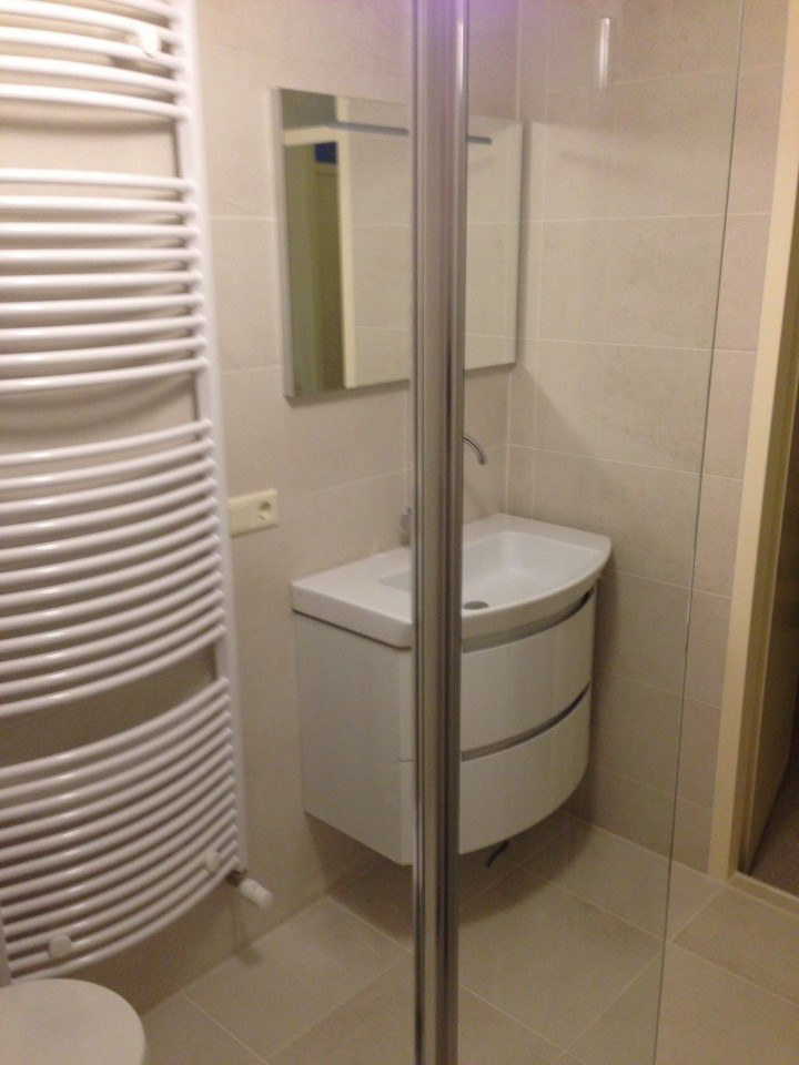 Badkamer Huizen enkele kleur keramische tegel - Timmer- en ...